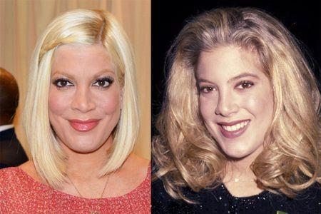 Tori Spelling Before and After Photo
