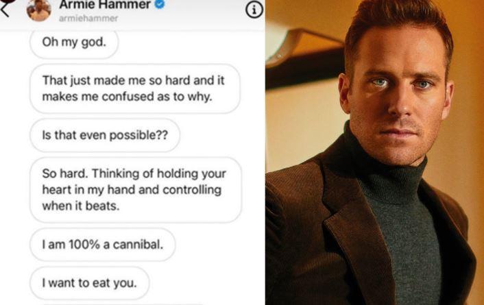 Armie Hammer girlfriend text messages