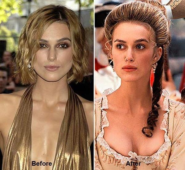 Keira Knightleuyy Before and After Picture